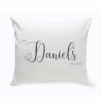 Personalized Last Name Modern Farmhouse Throw Pillow