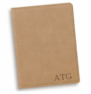 Personalized Light Brown Passport Holder