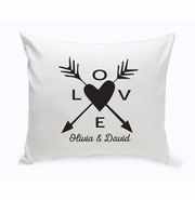 Personalized Love Arrow Throw Pillow