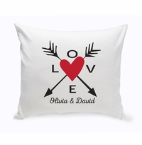 Personalized Love Arrows Throw Pillow