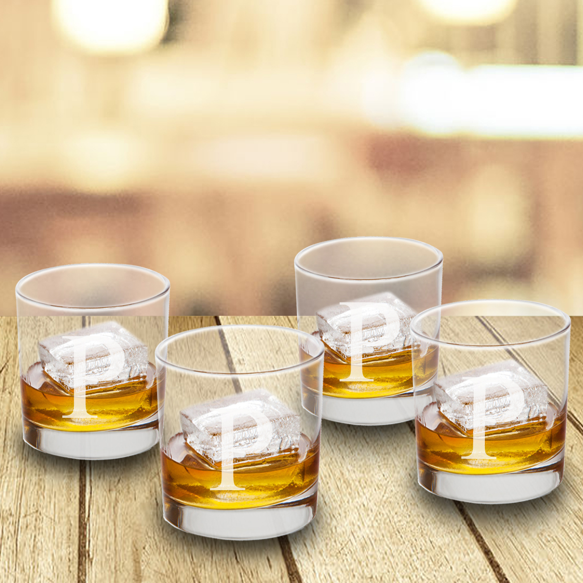 Wholesale personalized gifts dropship wholesale engraved gifts personalized lowball glasses set of 4 negle Images