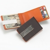 Personalized Metro Leather Wallet/Money Clip - click to enlarge