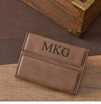 Personalized Mocha Business Card Holder