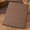 Personalized Mocha Portfolio with Notepad - click to enlarge