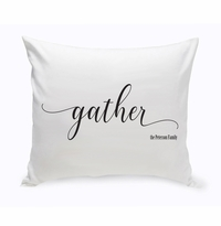 Personalized Modern Farmhouse Gather Throw Pillow