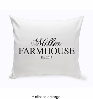 Personalized Modern Farmhouse Throw Pillow - click to enlarge