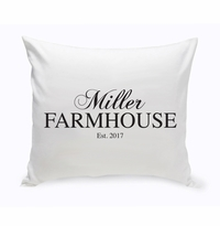 Personalized Modern Farmhouse Throw Pillow