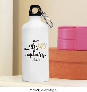 Personalized Mr. & Mrs. Water Bottle - click to enlarge