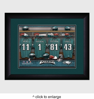 Personalized NFL Locker Room Print with Matted Frame - click to enlarge
