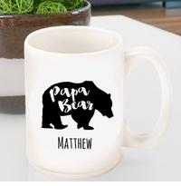 Personalized Papa Bear Coffee Mug