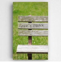 Personalized Park Bench Romance Canvas