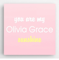 Personalized Pastel Kids Canvas Sign-Pink