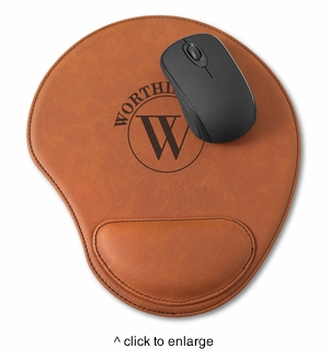 Personalized Rawhide Mouse Pad  - click to enlarge
