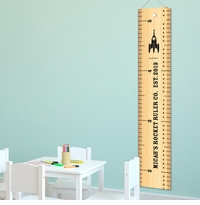 Personalized Rocket Ruler Height Chart