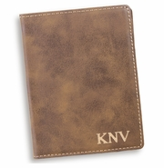 Personalized Rustic Passport Holder