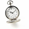 Personalized Silver  Brushed Pocket Watch - click to enlarge