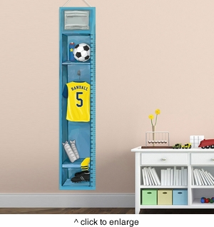 Personalized Soccer Growth Chart - click to enlarge