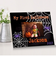 Personalized Spider Web Halloween Picture Frame