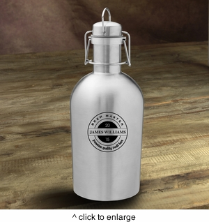 Personalized Stainless Steel Growler - click to enlarge