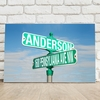 Personalized Street Sign Canvas - click to enlarge