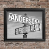 Personalized Black and White Street Sign Framed Print - click to enlarge