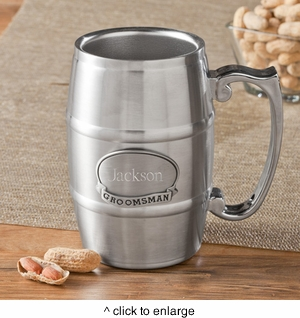 Personalized Tankard with Pewter Medallion - click to enlarge