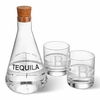 Personalized Tequila Decanter in Wood Crate with set of 2 Lowball Glasses - click to enlarge