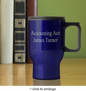 Personalized Travel Mug  - click to enlarge