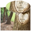 Personalized Tree of Love Print with Wood Frame - click to enlarge