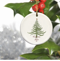 Personalized Vintage Christmas Ornament - Christmas Tree