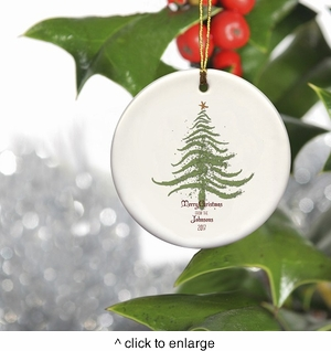 Personalized Vintage Christmas Ornament - Christmas Tree - click to enlarge