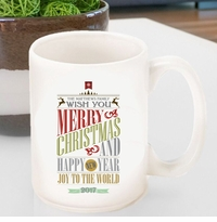 Personalized Vintage Holiday Coffee Mug