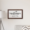 """Personalized Welcome To Our Home Modern Farmhouse 14"""" x 24"""" Canvas - click to enlarge"""
