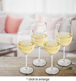 Personalized White Wine Quartet  - click to enlarge