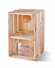Personalized Wine Decanter in Wood Crate with set of 2 Stemless Wine Glasses - click to enlarge