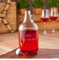 Personalized Wine Jug Set (includes 2 wine glasses)