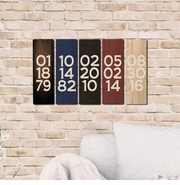 Personalized Wooden Panel Date Board