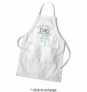 Personalized World's Greatest Dad Apron - click to enlarge