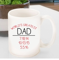Personalized World's Greatest Dad Coffee Mug