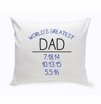 Personalized World's Greatest Dad Throw Pillow