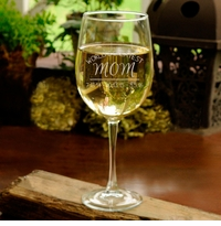 Personalized World's Greatest Mom Wine Glass