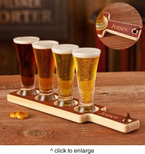 Real Wood Beer Tasting Set - click to enlarge