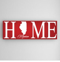 Red Home State Canvas