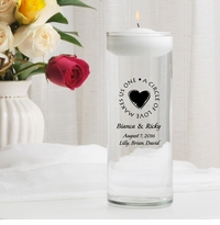 Second Marriage Floating Unity Candle (H8)