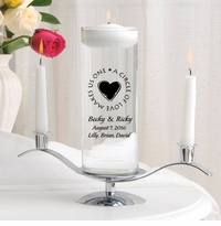 Second Marriage Floating Unity Candle Set (H8)