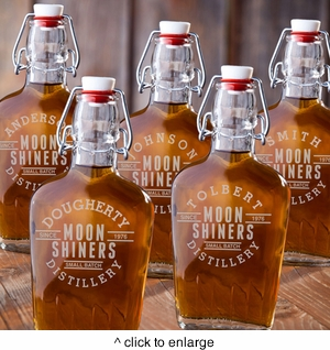 Set of Five Glass Flask - click to enlarge