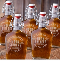 Set of Five Glass Flask