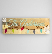 Snowflakes Canvas Sign