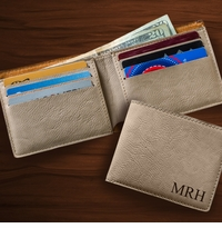Tan Leatherette Wallet