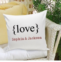 Typeset {Love} Decorative Throw Pillow
